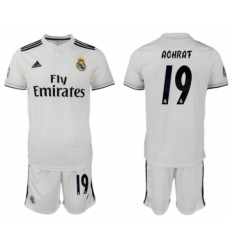 2018-19 Real Madrid 19 ACHRAF Home Soccer Jersey