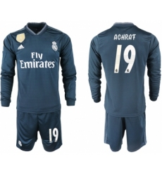 2018-19 Real Madrid 19 ACHRAF Away Long Sleeve Soccer Jersey
