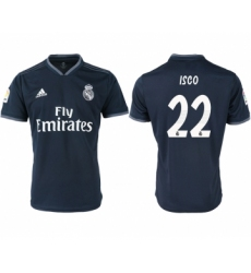2018-19 Real Madrid 22 ISCO Away Thailand Soccer Jersey