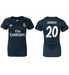 2018-19 Real Madrid 20 ASENSIO Away Women Soccer Jersey