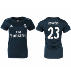 2018-19 Real Madrid 23 KOVACIC Away Women Soccer Jersey