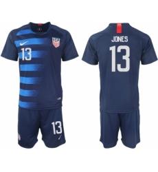 2018-19 USA 13 JONES Away Soccer Jersey