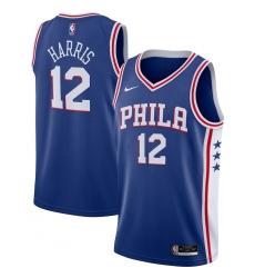 Men's Philadelphia 76ers #12 Tobias Harris Nike Royal 2020-21 Swingman Jersey
