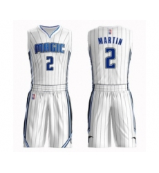 Men's Orlando Magic #2 Jarell Martin Swingman White Basketball Suit Jersey - Association Edition