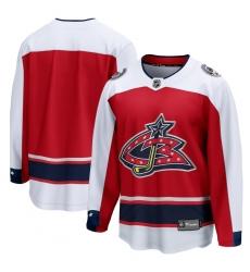 Men's Columbus Blue Jackets Fanatics Branded Blank Red 2020-21 Special Edition Breakaway Jersey