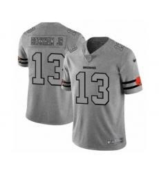 Men's Cleveland Browns #13 Odell Beckham Jr. Limited Gray Team Logo Gridiron Football Jersey
