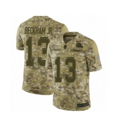 Youth Odell Beckham Jr. Limited Camo Nike Jersey NFL Cleveland Browns #13 2018 Salute to Service