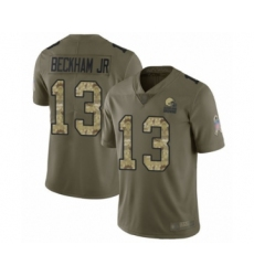 Youth Odell Beckham Jr. Limited Olive Camo Nike Jersey NFL Cleveland Browns #13 2017 Salute to Service