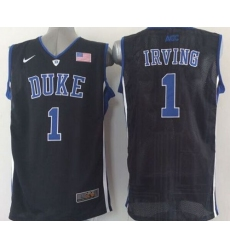 Blue Devils #1 Kyrie Irving Black Basketball Stitched NCAA Jersey