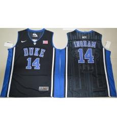 Duke Blue Devils #14 Brandon Ingram Black Basketball Elite V Neck Stitched NCAA Jersey
