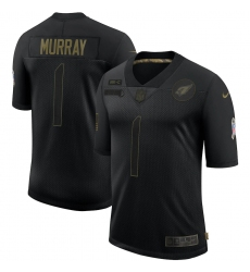 Men's Arizona Cardinals #1 Kyler Murray Black Nike 2020 Salute To Service Limited Jersey
