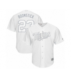 Men's Minnesota Twins #23 Nelson Cruz Authentic  Boomstick White 2019 Players Weekend Baseball Jersey