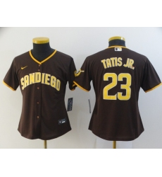 Women's San Diego Padres #23 Fernando Tatis Jr. Alternate Replica Brown Nike Jersey