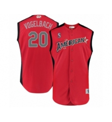 Men's Seattle Mariners #20 Dan Vogelbach Authentic Red American League 2019 Baseball All-Star Jersey