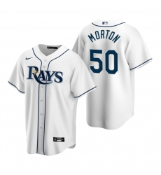 Men's Nike Tampa Bay Rays #50 Charlie Morton White Home Stitched Baseball Jersey