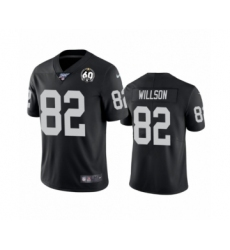 Men's Oakland Raiders #82 Luke Willson Black 60th Anniversary Vapor Untouchable Limited Player 100th Season Football Jersey