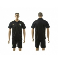 Malaga Blank Black Training Soccer Club Jersey