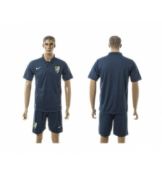 Malaga Blank Blue Training Soccer Club Jersey