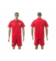 Malaga Blank Red Training Soccer Club Jersey