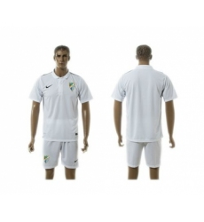 Malaga Blank White Training Soccer Club Jersey