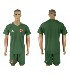 Colombia Blank Green Goalkeeper Soccer Country Jersey