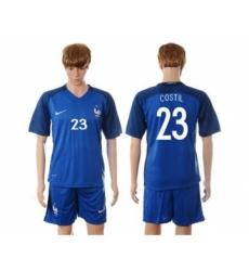 France #23 Costil Blue Soccer Country Jersey