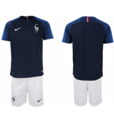 France Blank Home Soccer Country Shorts