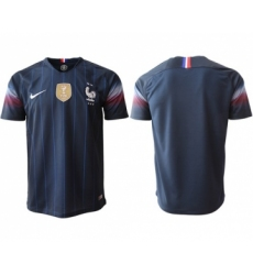 France Blank Home Thai Version Soccer Country Jersey