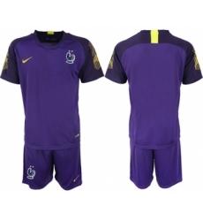 France Blank Purple Goalkeeper Soccer Country Jersey