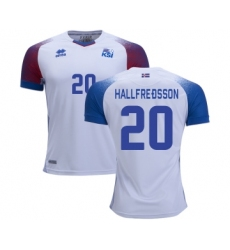 Iceland #20 HALLFREDSSON Away Soccer Country Jersey