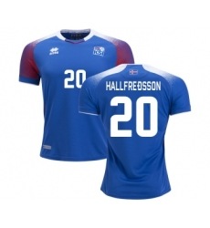Iceland #20 HALLFREDSSON Home Soccer Country Jersey
