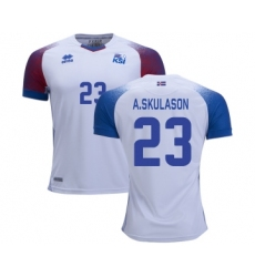 Iceland #23 A.SKULASON Away Soccer Country Jersey