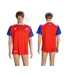 Iceland Blank Red Goalkeeper Soccer Country Jersey
