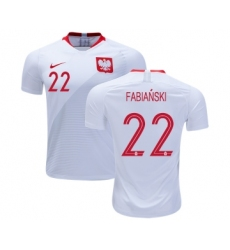 Poland #22 Fabianski Home Soccer Country Jersey