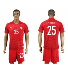 Poland #25 Tyton Away Soccer Country Jersey