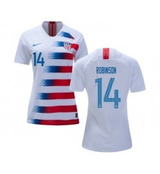 Women's USA #14 Robinson Home Soccer Country Jersey