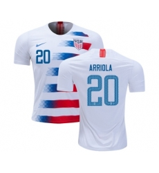 USA #20 Arriola Home Kid Soccer Country Jersey