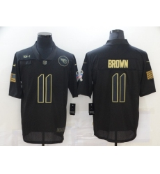 Men's Tennessee Titans #11 A.J. Brown Black Nike 2020 Salute To Service Limited Jersey
