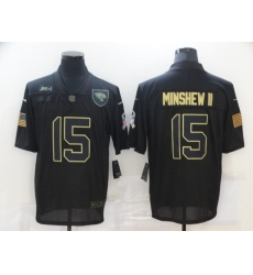 Men's Jacksonville Jaguars #15 Gardner Minshew II Black Nike 2020 Salute To Service Limited Jersey