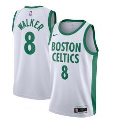 Men's Boston Celtics #8 Kemba Walker Nike White 2020-21 Swingman Player Jersey