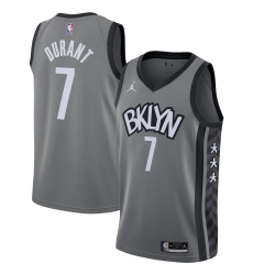 Men's Brooklyn Nets #7 Kevin Durant Jordan Brand Gray 2020-21 Swingman Jersey