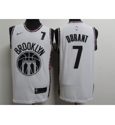 Men's Brooklyn Nets #7 Kevin Durant White Nike Swingman Player Jersey