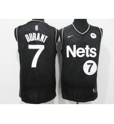 Men's Nike Brooklyn Nets #7 Kevin Durant Black Jersey