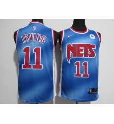 Men's Brooklyn Nets #11 Kyrie Irving Blue Nike Swingman Player Jersey