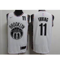 Men's Brooklyn Nets #11 Kyrie Irving White Nike Swingman Player Jersey