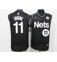 Men's Nike Brooklyn Nets #11 Kyrie Irving Black Jersey