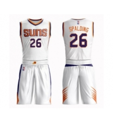 Men's Phoenix Suns #26 Ray Spalding Authentic White Basketball Suit Jersey - Association Edition