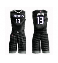 Men's Sacramento Kings #13 Dewayne Dedmon Swingman Black Basketball Suit Jersey Statement Edition
