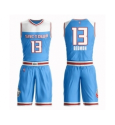 Men's Sacramento Kings #13 Dewayne Dedmon Swingman Blue Basketball Suit Jersey - City Edition