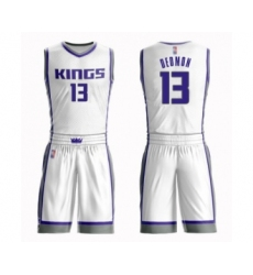 Men's Sacramento Kings #13 Dewayne Dedmon Swingman White Basketball Suit Jersey - Association Edition